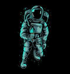 astronaut holding ice cream vector image