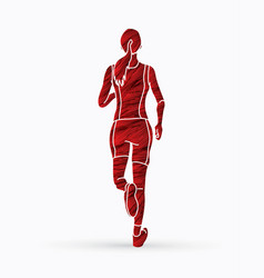 Athlete runner a woman runner running vector