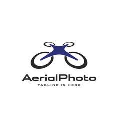 Aviation aerial photography logo vector