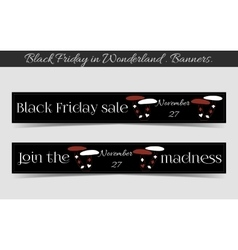 Banners Black Friday Sale in Wonderland - vector