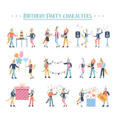 birthday party people concept character vector image