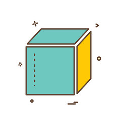 box delivery closed icon design vector image
