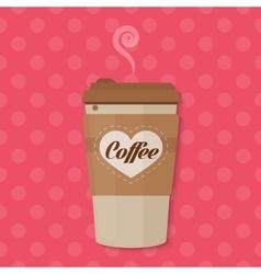 Bright color Paper Coffee cup concept vector