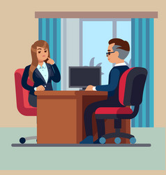 Business office conversation sitting businessman vector