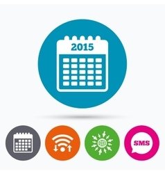 Calendar sign icon Date or event reminder vector image