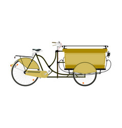 cargo bike vector image
