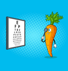 Carrot check vision pop art vector