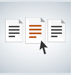 choose the document or application concept human vector image