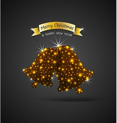Christmas celebrations greeting card with shiny vector image
