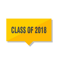 class of 2018 price tag vector image