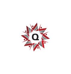 coaching success continuity initial q vector image