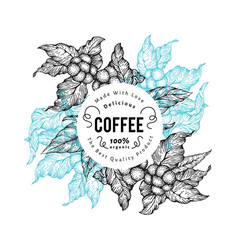 coffee tree vintage coffee vector image