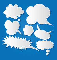 Comic bubble speech balloons speech cartoon 206 vector