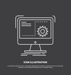 Command computer function process progress icon vector