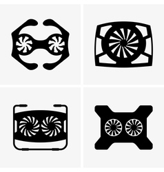 Cooling pads vector image