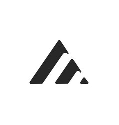 Creative letter a logo minimalist and simple vector