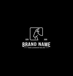 Creative logo design goat head vector