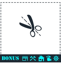 Cut icon flat vector image