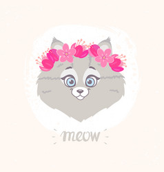Cute kitty vector