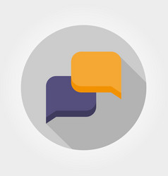 dialog boxes icon flat vector image