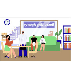 Employment agency office composition vector