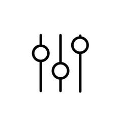 equalizer icon flat isolated on white background vector image