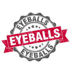 eyeballs stamp sign seal vector image