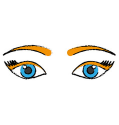 Eyes icon image vector