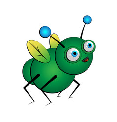 fantasy green bug insect vector image