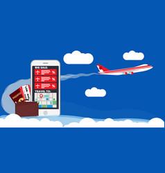 Find best deals cheap flight online travel plane vector
