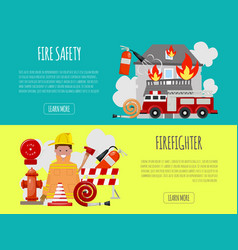 firefighter banner vector image