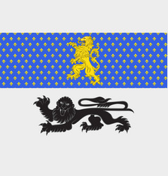 Flag of mamers in sarthe of pays de la loire is a vector