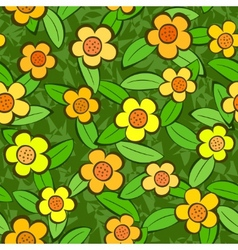 flowers seamless vector repeat pattern vector image