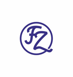 fz initial letter in circle logo vector image