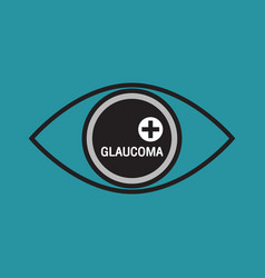 Glaucoma logo icon design vector