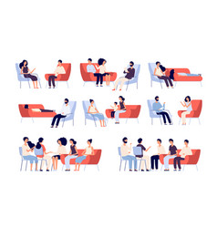 group therapy people crowd consulting vector image
