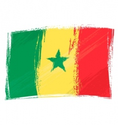 Grunge Senegal flag vector