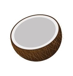 half coconut icon vector image