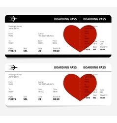 heart on ticket vector image
