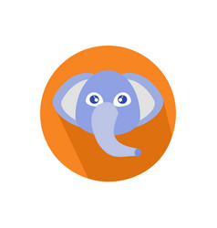 Icon elephant head isolated on white background vector