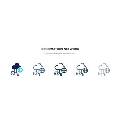 information network icon in different style two vector image