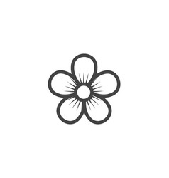 jasmine flower icon logo template vector image