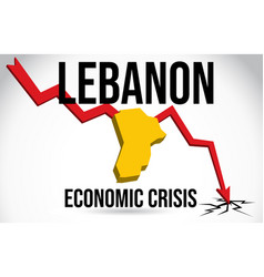 lebanon map financial crisis economic collapse vector image
