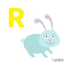 Letter r rabbit zoo alphabet english abc vector