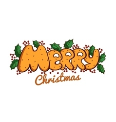 Lettering Merry Christmas vector