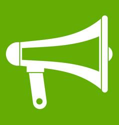 loudspeaker icon green vector image