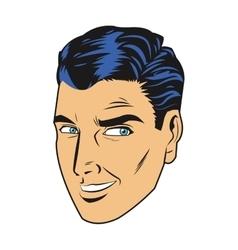 Man smile side eye vector