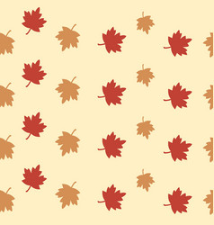 maple leaves seamless pattern for wallpaper vector image