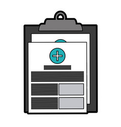 Medical history healthcare icon image vector