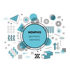 memphis graphic retro funky graphic vector image